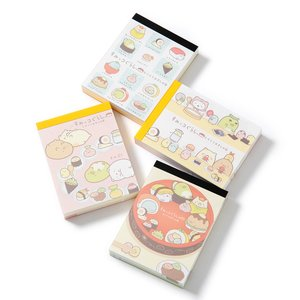 Sumikko Gurashi Sushi Party Cloth-Bound Memo Pad