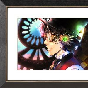 "Art Prints / Art Canvas Boards / ""Steampunk"" Chara Fine Graph Print"