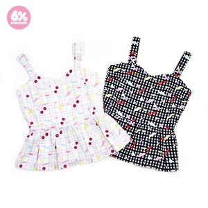 J-Fashion / Tops / 6%DOKIDOKI Gingham Cherry Peplum Bustier