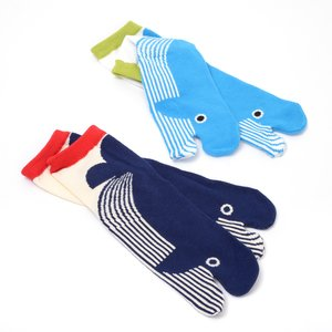 Home & Kitchen / Roomwear & Sleepwear / J-Fashion / Socks & Tights / Nagomi Modern Women's Whale Tabi Socks