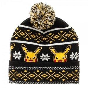 Pokémon Pikachu Fair Isle Pom Beanie