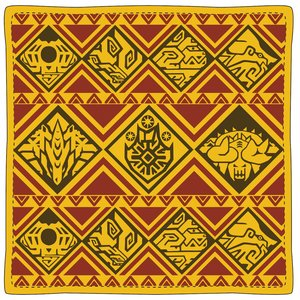 Monster Hunter XX Ethnic Pattern Cushion: The Big 6 Monsters