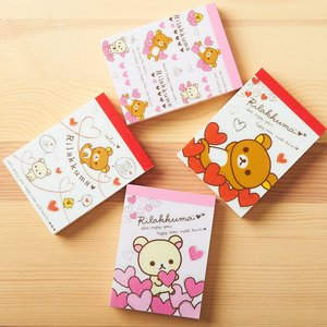 Rilakkuma Small Memo Pads (Full of Hearts)