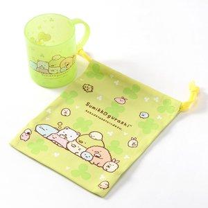Otaku Apparel & Cosplay / Bags & Wallets / Home & Kitchen / Mugs & Glasses / Sumikko Gurashi Plastic Mug & Drawstring Bag Set