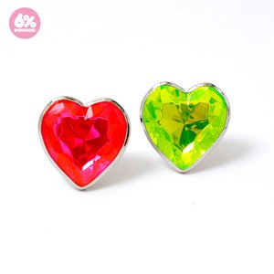 6%DOKIDOKI Jewel Heart Beam Ring