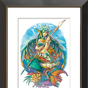 """Mermaid"" Chara Fine Graph Print"