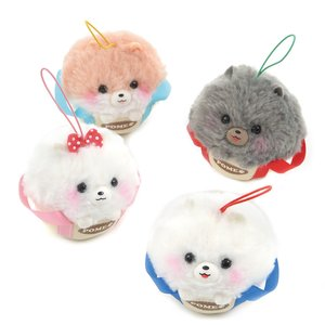 Fuwa-mofu Pometan Trip in a Bag Dog Plush Collection (Mini Strap)