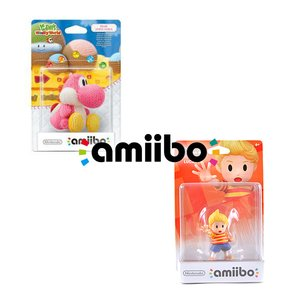 Gaming / Game Accessories / Pink Yarn Yoshi amiibo w/ Free Lucas amiibo