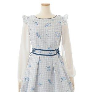 LIZ LISA Houndstooth Floral Print Dress