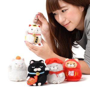 Hige Manjyu Maneki-neko Cat Plush Collection Vol. 2 (Ball Chain)