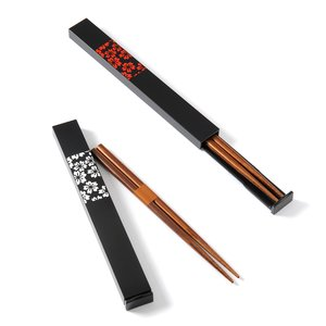 Home & Kitchen / Chopsticks & Cutlery / Sakurako Square Chopsticks & Case Set