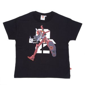 Otaku Apparel & Cosplay / Tops / Evangelion x Dickies Unit-02 Graphic Print Black T-Shirt