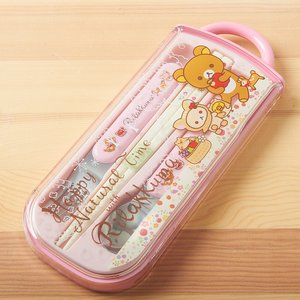 Home & Kitchen / Chopsticks & Cutlery / Rilakkuma Trio Utensil Set (Happy Natural Time)