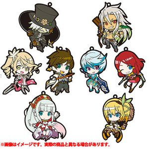 Tales of Zestiria the X Chibi Character Trading Rubber Strap Set