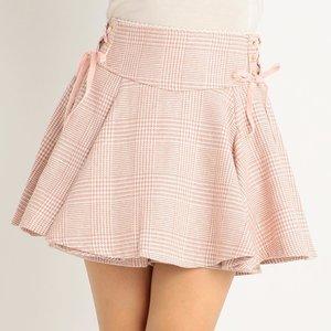 LIZ LISA Check Flare Sukapan Skirt