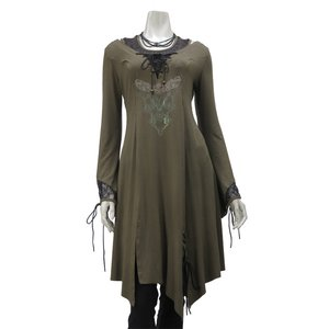 Rozen Kavalier Embroidered Layered Tunic