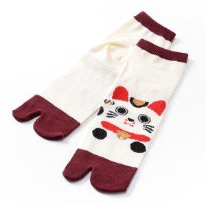 Nagomi Modern Women's Tabi Socks - Manekineko Ver. 2
