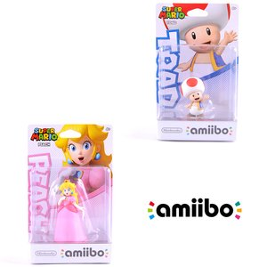 Gaming / Game Accessories / Super Mario Peach amiibo w/ Free Toad amiibo