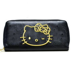 Otaku Apparel & Cosplay / Bags & Wallets / Hello Kitty Wink Gold Long Wallet