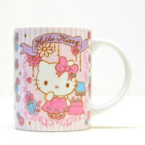 Home & Kitchen / Mugs & Glasses / Hello Kitty Holiday Collection Girly Flower Ceramic Mug