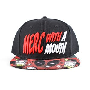 Otaku Apparel & Cosplay / Hats & Caps / Marvel Deadpool Merc with a Mouth Snapback