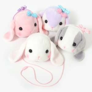 Otaku Apparel & Cosplay / Bags & Wallets / Plushies / Plushie Accessories / Pote Usa Loppy Face Pochettes Vol. 2