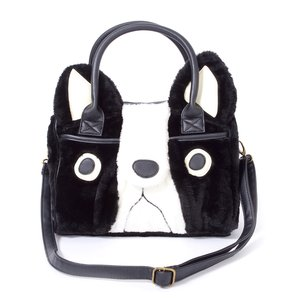 FLAPPER Buburin Face Fur Boston Bag