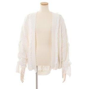 LIZ LISA Ribbon Shoulder String Momonga Cardigan