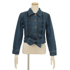 LIZ LISA Ribbon Belt Denim Jacket