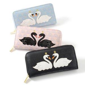 J-Fashion / Wallets & Pouches / FLAPPER Swan Appliqué Long Wallet