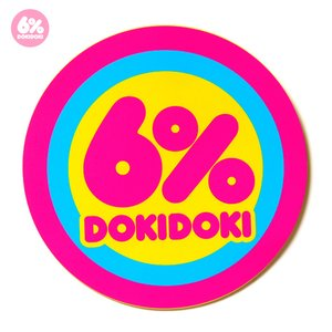 6%DOKIDOKI Logo Sticker