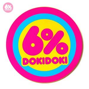 6%DOKIDOKI Logo Sticker