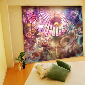 Home & Kitchen / Home Decor / Yuu Illustrated Curtains - Planet