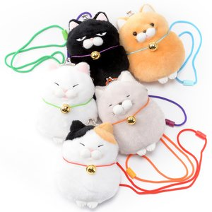 Plushies / Plushie Accessories / Hige Manjyu Cat Plush Coin Pochettes