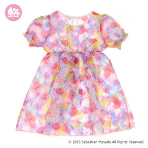 6%DOKIDOKI Colorful Rebellion Pastel Organdy Dolly Dress