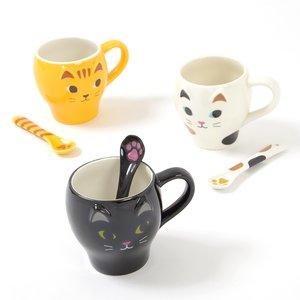 Home & Kitchen / Mugs & Glasses / Nyao Mug & Paw Spoon