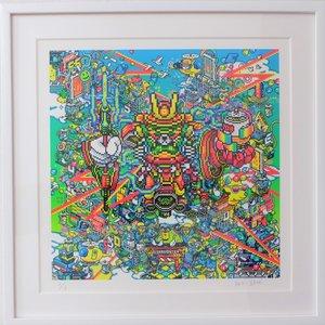 Shibuya Pixel Art Artist Works: Ban-8Ku Original Art Print