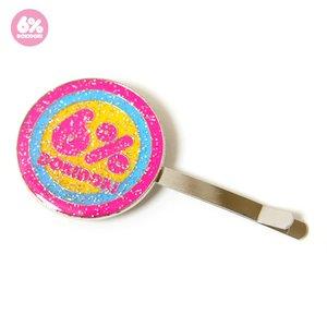 6%DOKIDOKI Sugar Lame Logo Hairpin