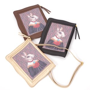FLAPPER Rabbit Portrait 2-Way Clutch