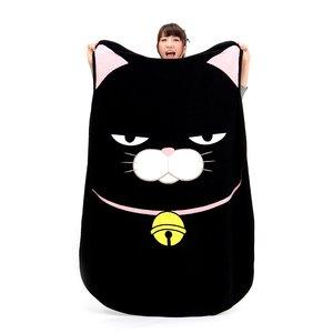 Home & Kitchen / Blankets / Hige Manjyu Diecut Cat Blankets