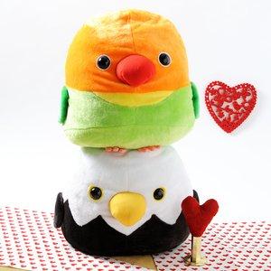 Plushies / Plushie Sets / Plush Pairs: Bald Eagle & Lovebird