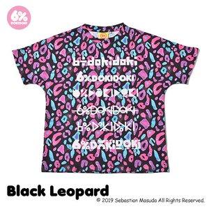 6%DOKIDOKI Colorful Rebellion Animal Black Leopard T-Shirt