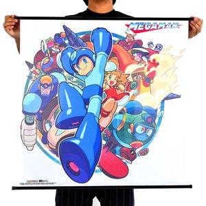 Art Prints / Posters / Mega Man Classic Group Wall Scroll Poster