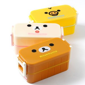 Home & Kitchen / Bento Containers / Rilakkuma Lunch Market 2-Tier Complete Bento Sets