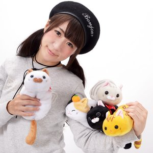 Home & Kitchen / Pouches & Other Cases / Plushies / Plushie Accessories / Tsuchineko Higebukuro Cat Plush Pouch Collection