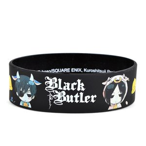 Otaku Apparel & Cosplay / Other Accessories / Black Butler Sebastian & Ciel Cow PVC Wristband
