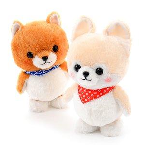 Mameshiba San Kyodai Voice Mimicking & Walking Dog Plush Collection