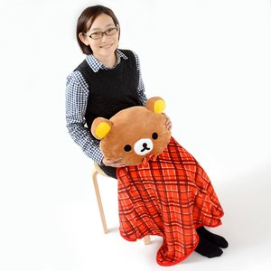 Home & Kitchen / Blankets / Rilakkuma Plush Cushion Lap Blanket