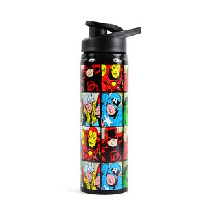 Home & Kitchen / Tumblers / Marvel Heroes Grid Stainless Steel Water Bottle