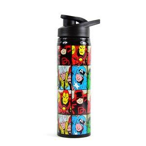 Marvel Heroes Grid Stainless Steel Water Bottle